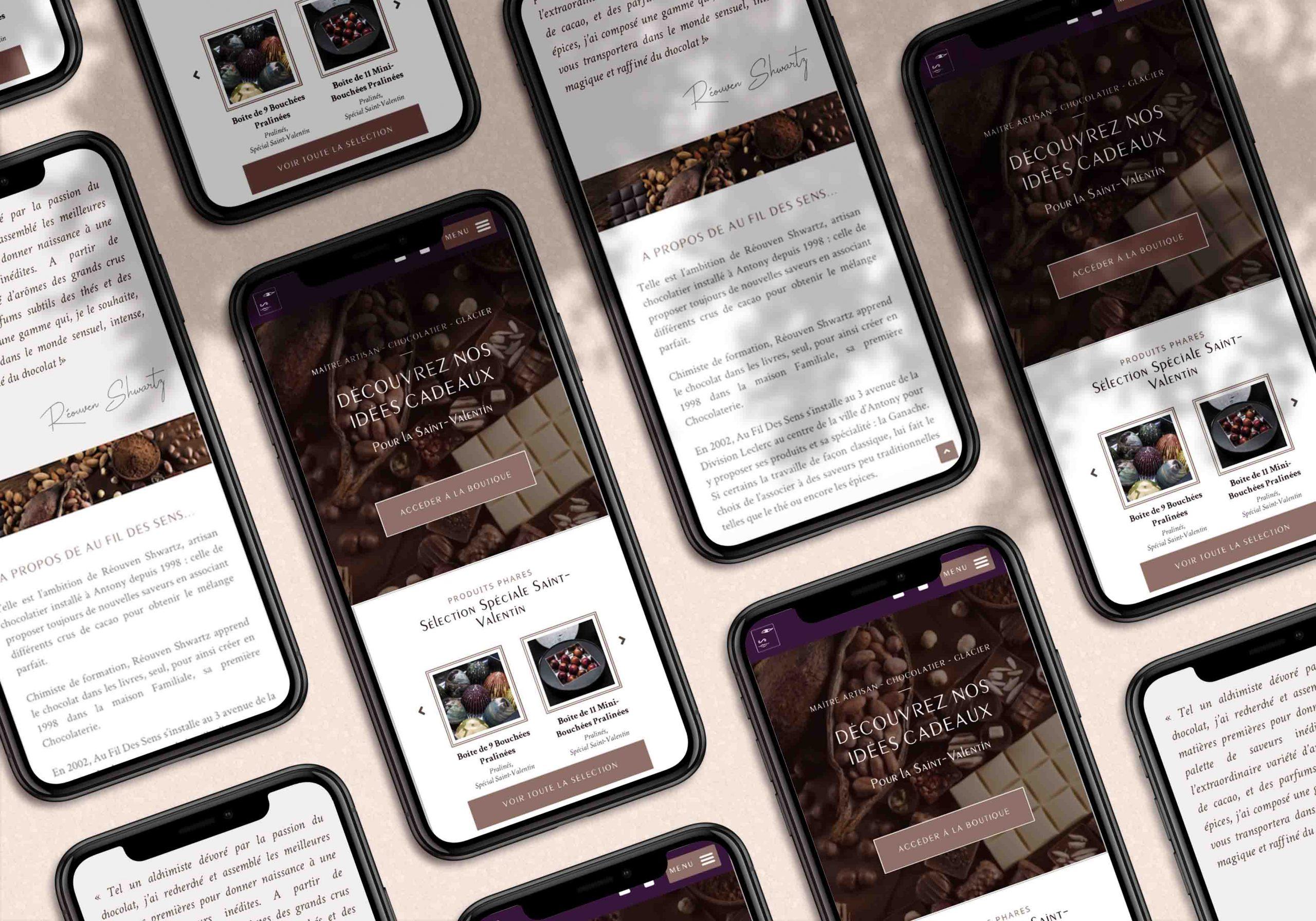 Site internet boutique en ligne WooCommerce pour une chocolaterie