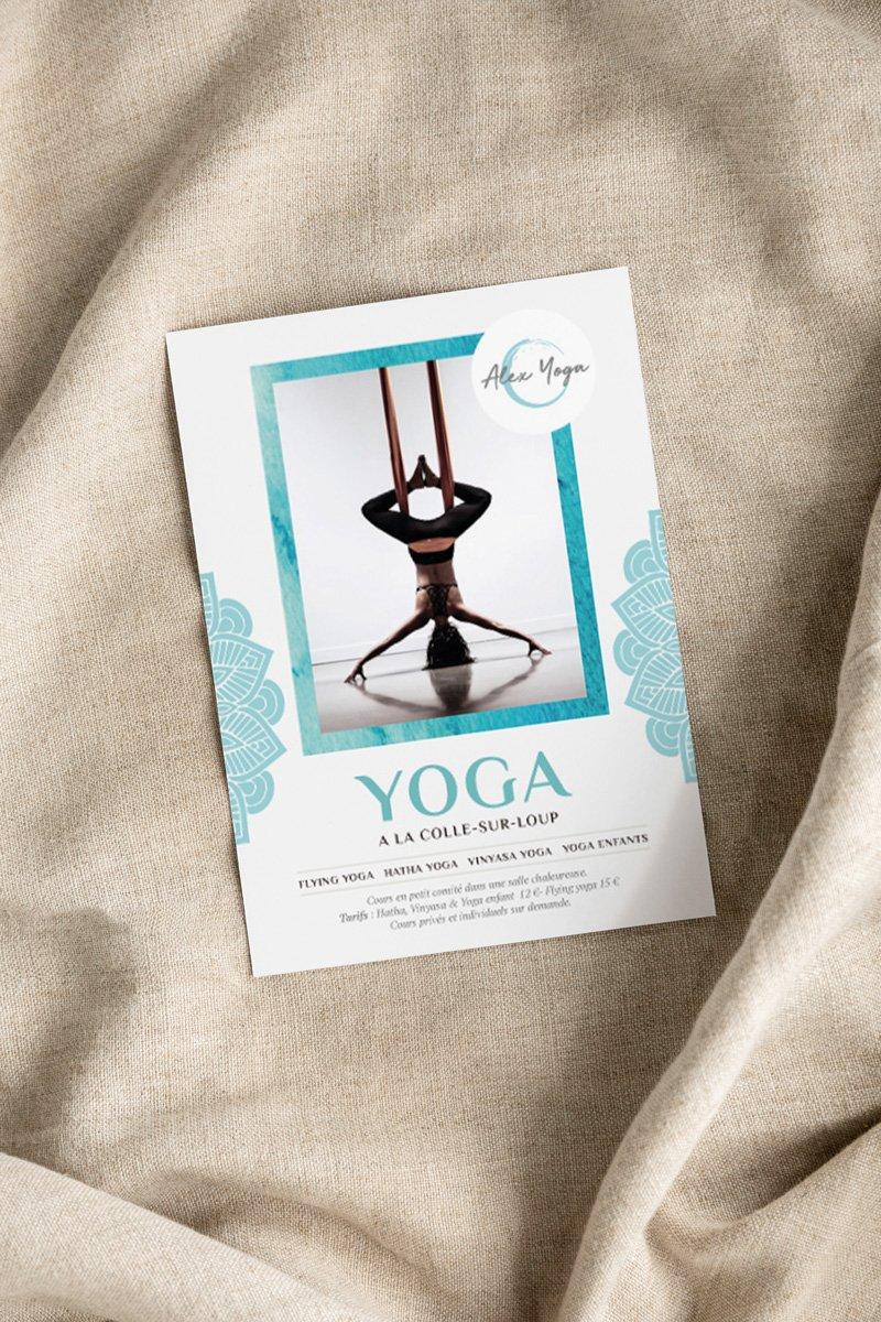 Design de flyer pour un studio de yoga