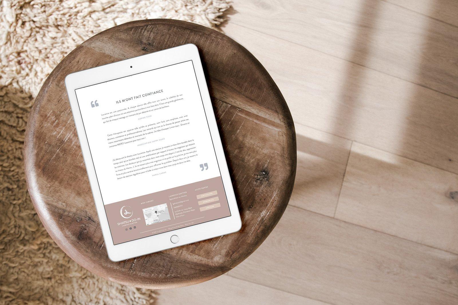 Création de site internet pour thérapeute médecine alternative
