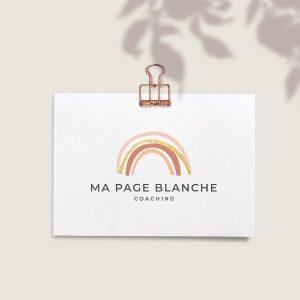 Création de logo et identité visuelle ma page blanche coaching