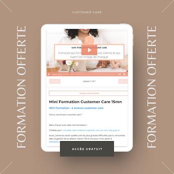 Formation gratuite customer care expérience client